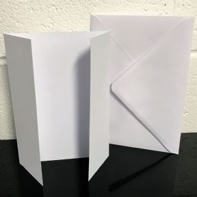 25 x A5 White GateFold Card Blanks & Envelopes - Stella Weds